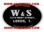 W and S Motorcycles Leeds Dealer Decal Transfer DDQ47